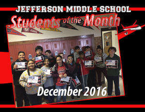 Students of the Month - December 2016